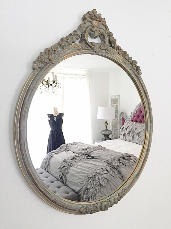 Circle ornate mirror Ornate Mirrors Bring So Much Excitement to Home Decor