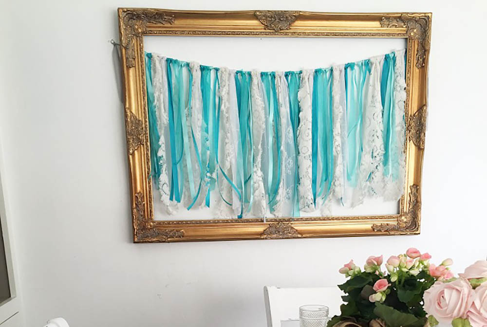 DIY Bohemian Tattered Banner Garland