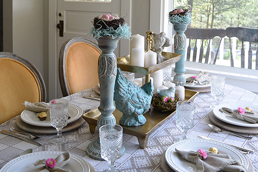 Pretty Easy Party Decor DIY Linen Napkins