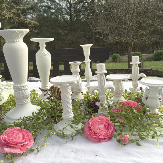 Designing French Wedding Candle Holders