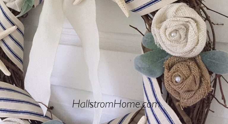Hallstrom Home seashell wreath