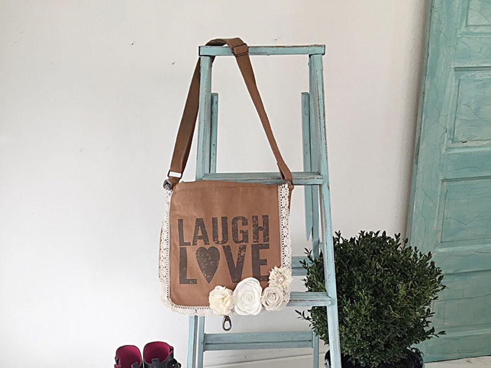 DIY Farmhouse Ladder - Our Favorite Aqua Blue