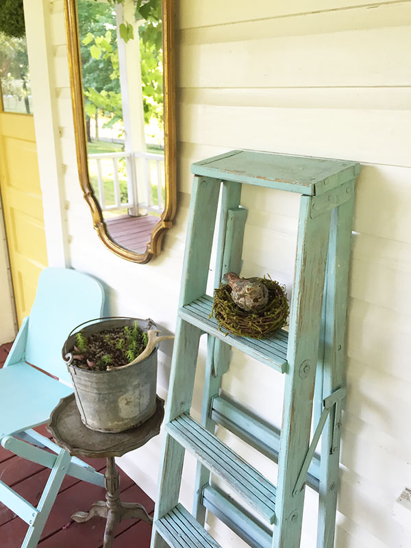 Diy Farmhouse Ladder Our Favorite Aqua Blue Hallstrom Home