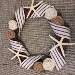 How to Make a Seashell Wreath for Coastal Beach Home