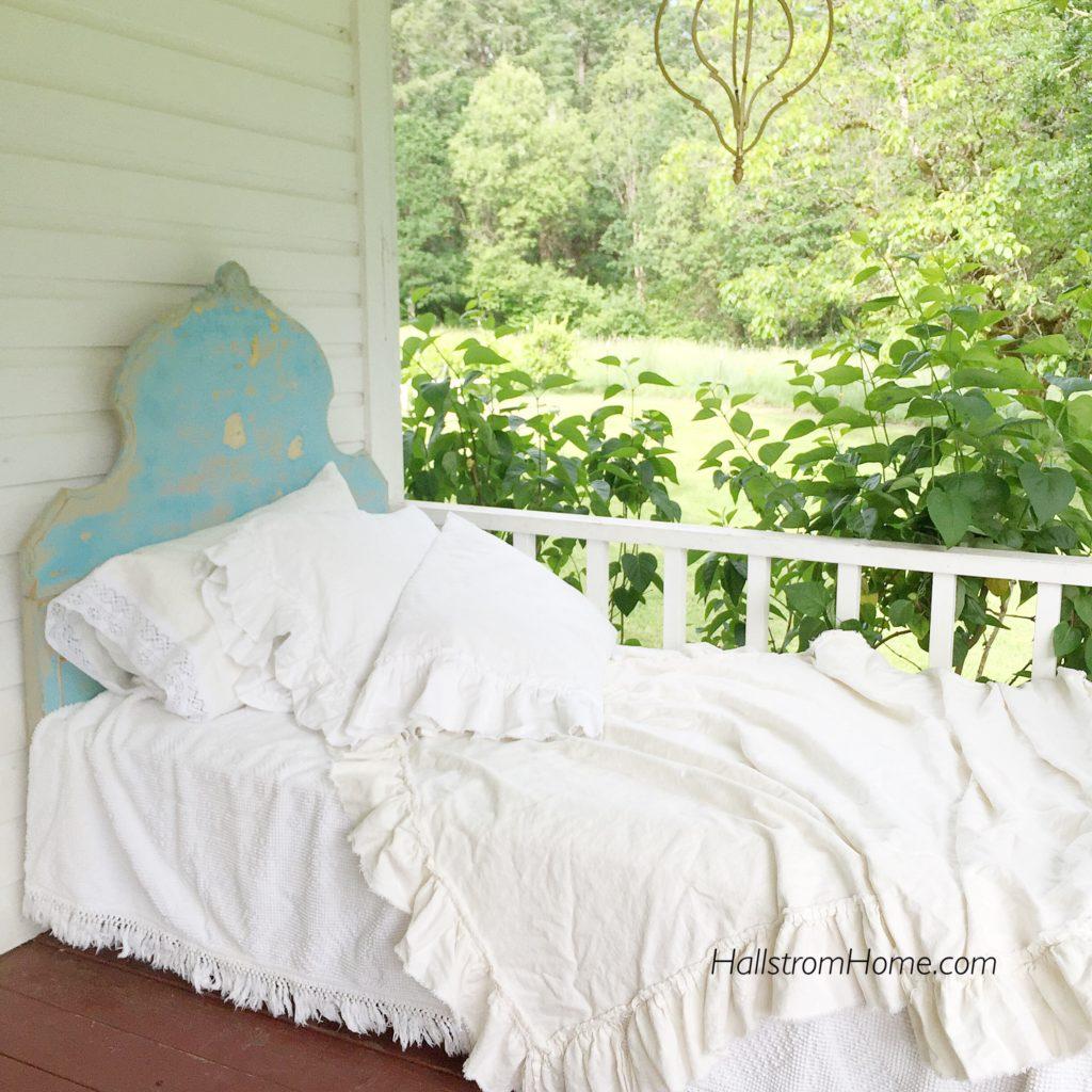 Washed Linen Ruffle Bedding|farmhouse bedding|shabby chic bedding|linen bedding|king linen ruffle bedding|farmhouse decor|luxury bedding|linen|ruffle bedding|white bedding|natural bedding|hallstromhome