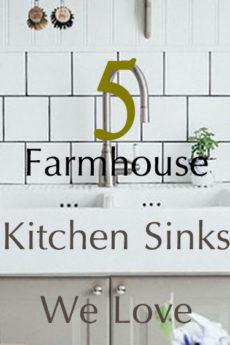 5 Farmhouse Kitchen Sinks We Love - Hallstrom Home - Featured