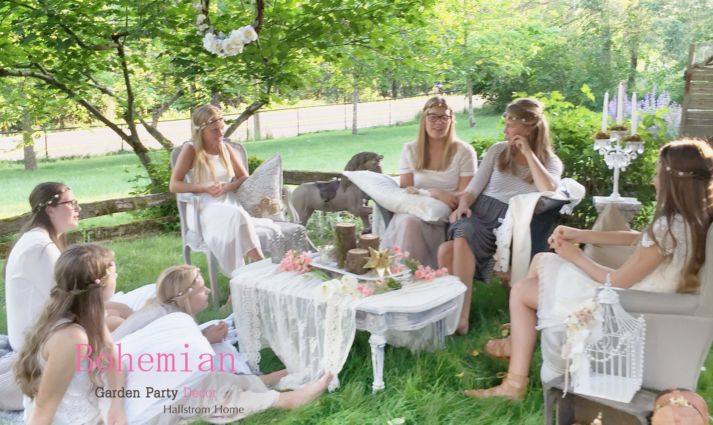 Bohemian Garden Party Decor - Hallstrom Home - Featured Image