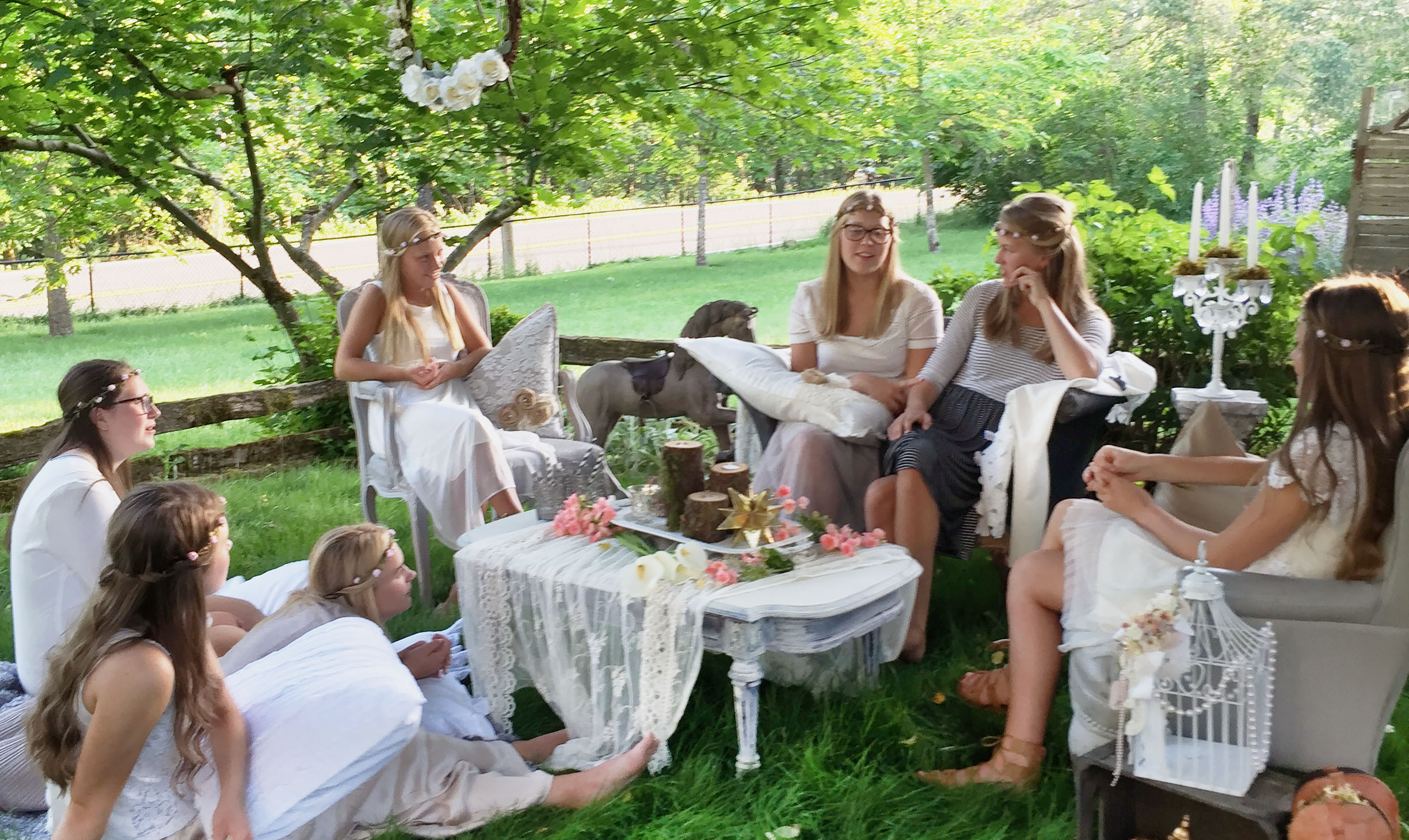 Bohemian Garden Party Decor - Hallstrom Home - Featured