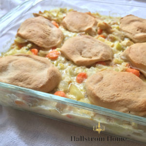 Easy Chicken Pot Pie for Busy Moms - Hallstrom Home
