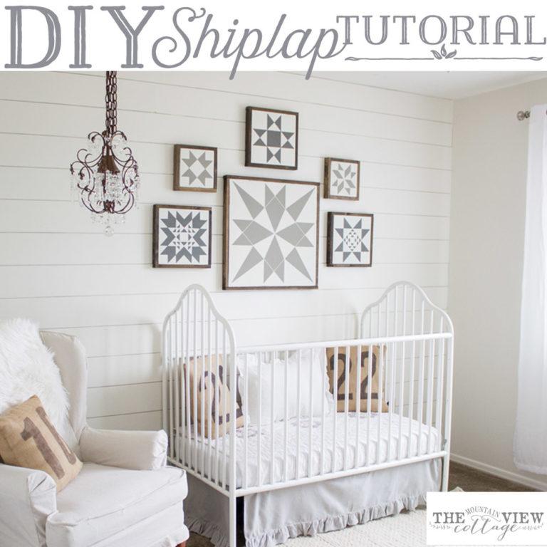 Easy DIY Shiplap Wall Tutorial