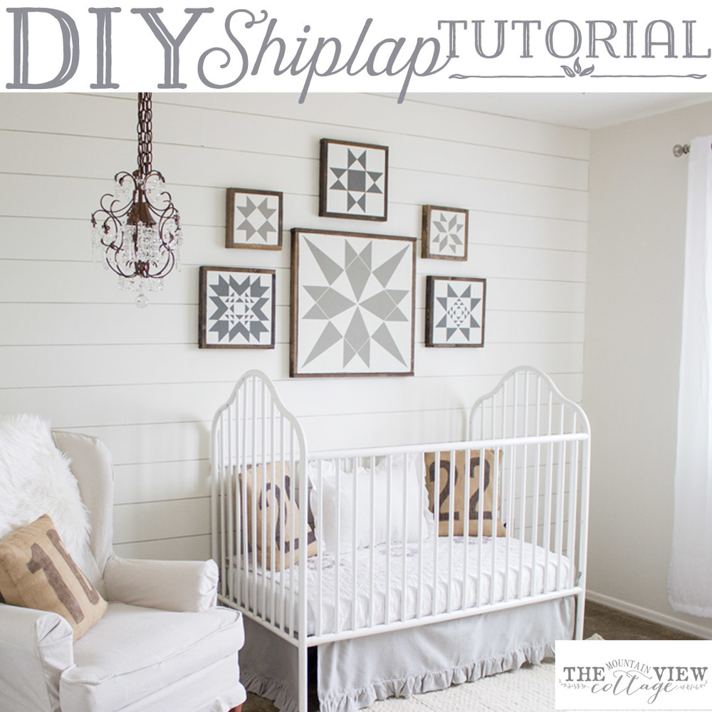 Easy DIY Shiplap Wall Tutorial