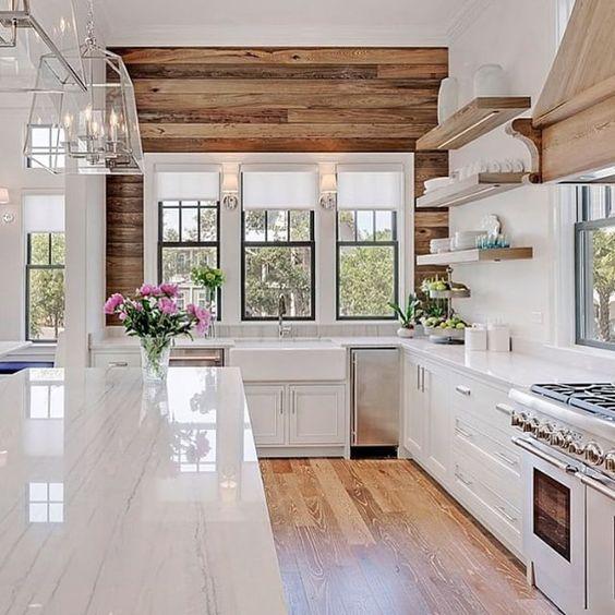 Hallstrom Home shiplap kitchen