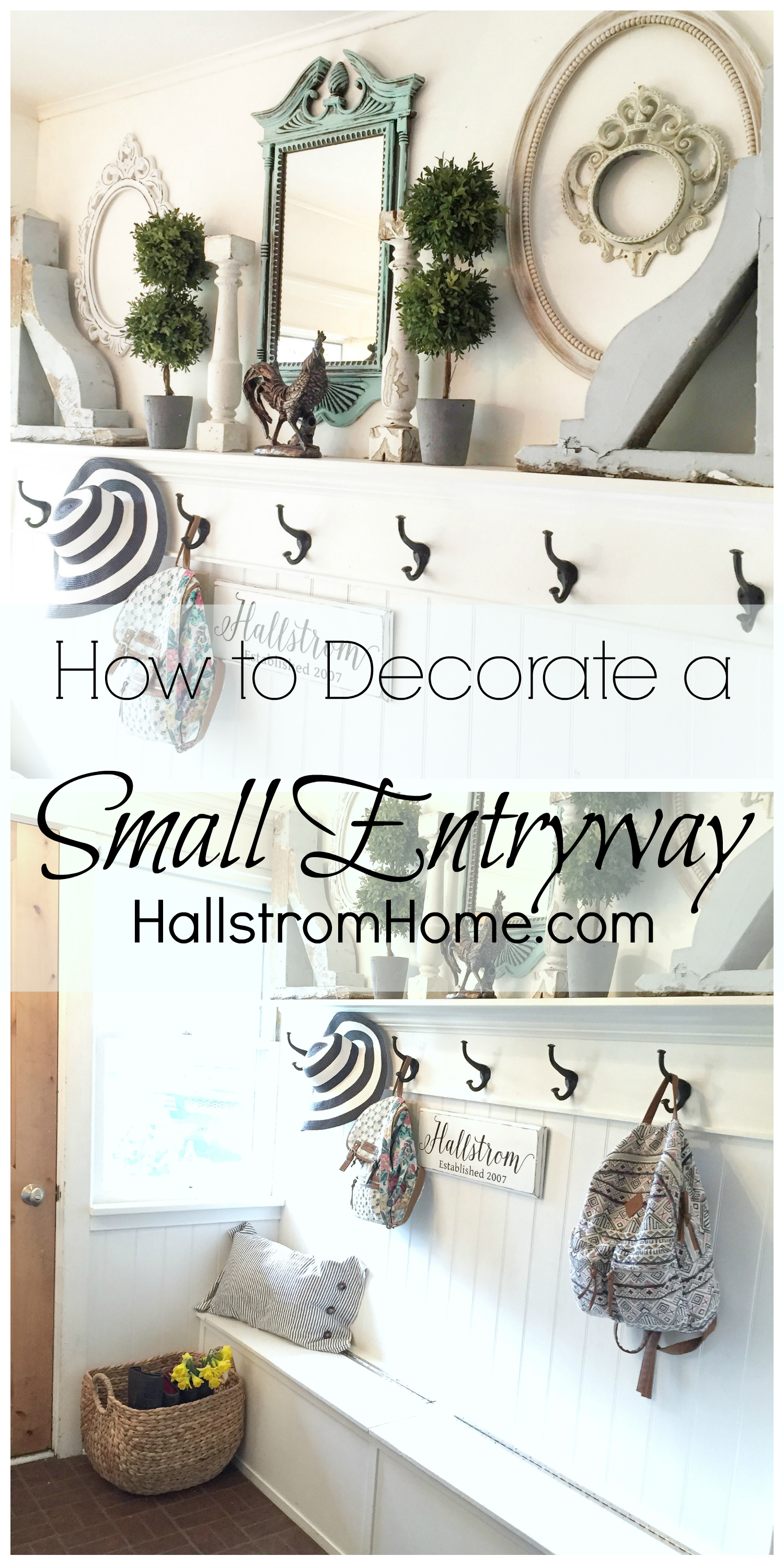 How to Decorate a Small Entryway by Hallstrom Home