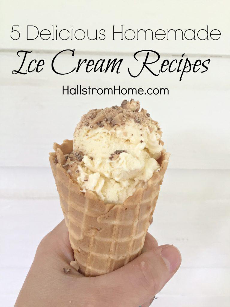 5 delicious ice cream recipes by Hallstrom Home