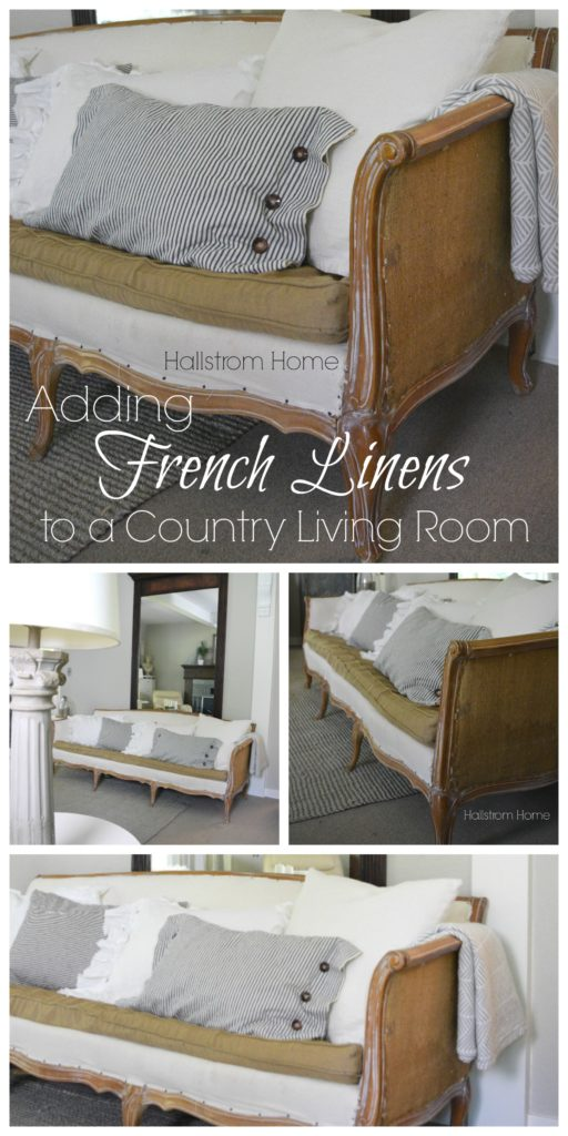 Adding French Linens to a Country Living Room Hallstrom Home