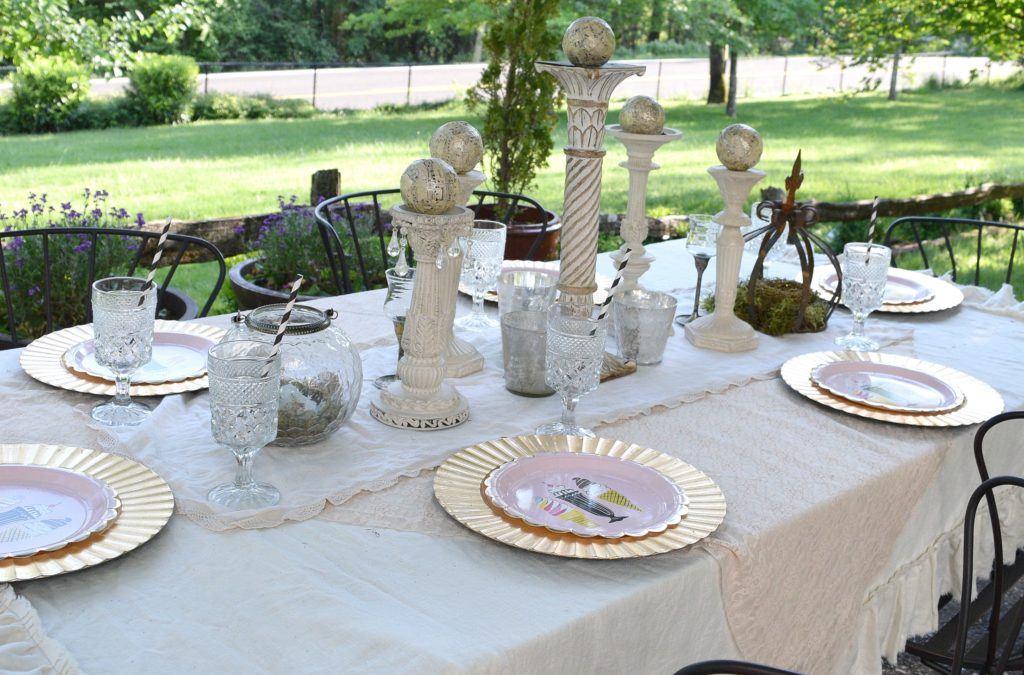 Garden Party Tablescape Decor