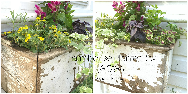 Hallstrom Home - Farmhouse Planter Box for Herbs