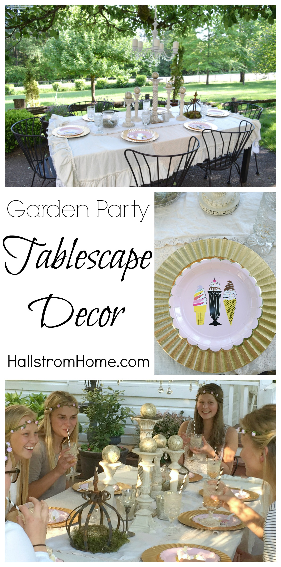 Hallstrom Home's Garden Party Tablescape Decor