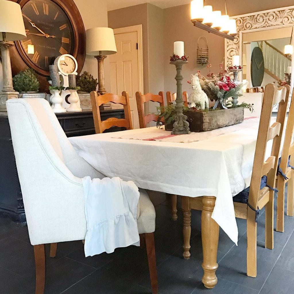 You can find my linen table cloths in link @hallstromhome just in time for the holidays. I love the look and feel of linen. You can iron for a tailored look or wash and dry for a relaxed shabby chic style. I have many color options available. Let me know what your favorite color is. #linens #myhome