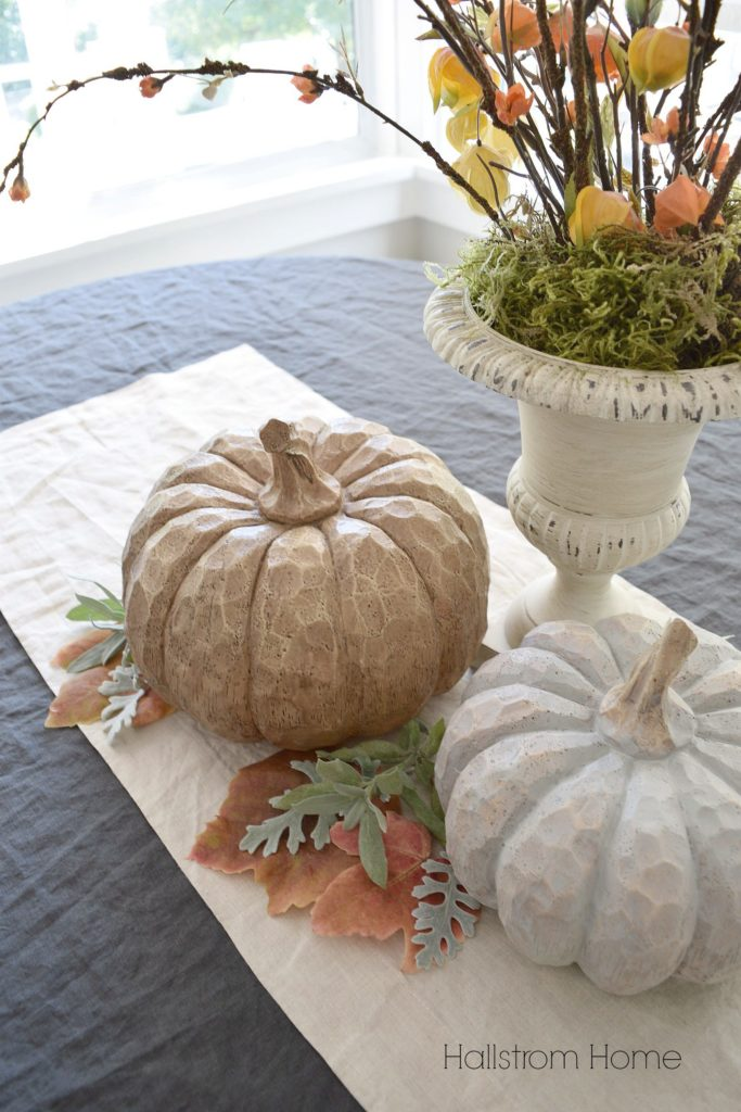 Chalk Paint Pumpkins Fall table decor Hallstrom Home