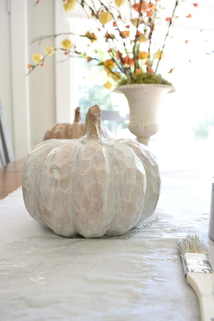 Chalk Paint Pumpkins recipe Hallstrom Home
