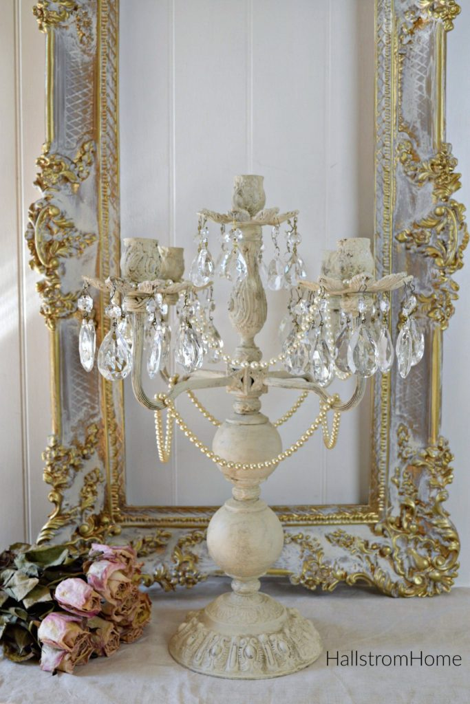 Crystal Candelabra Mixing Vintage with Modern Home Decor