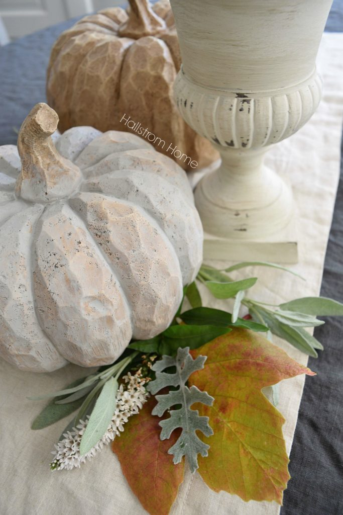 DIY chalk paint pumpkins Hallstrom Home