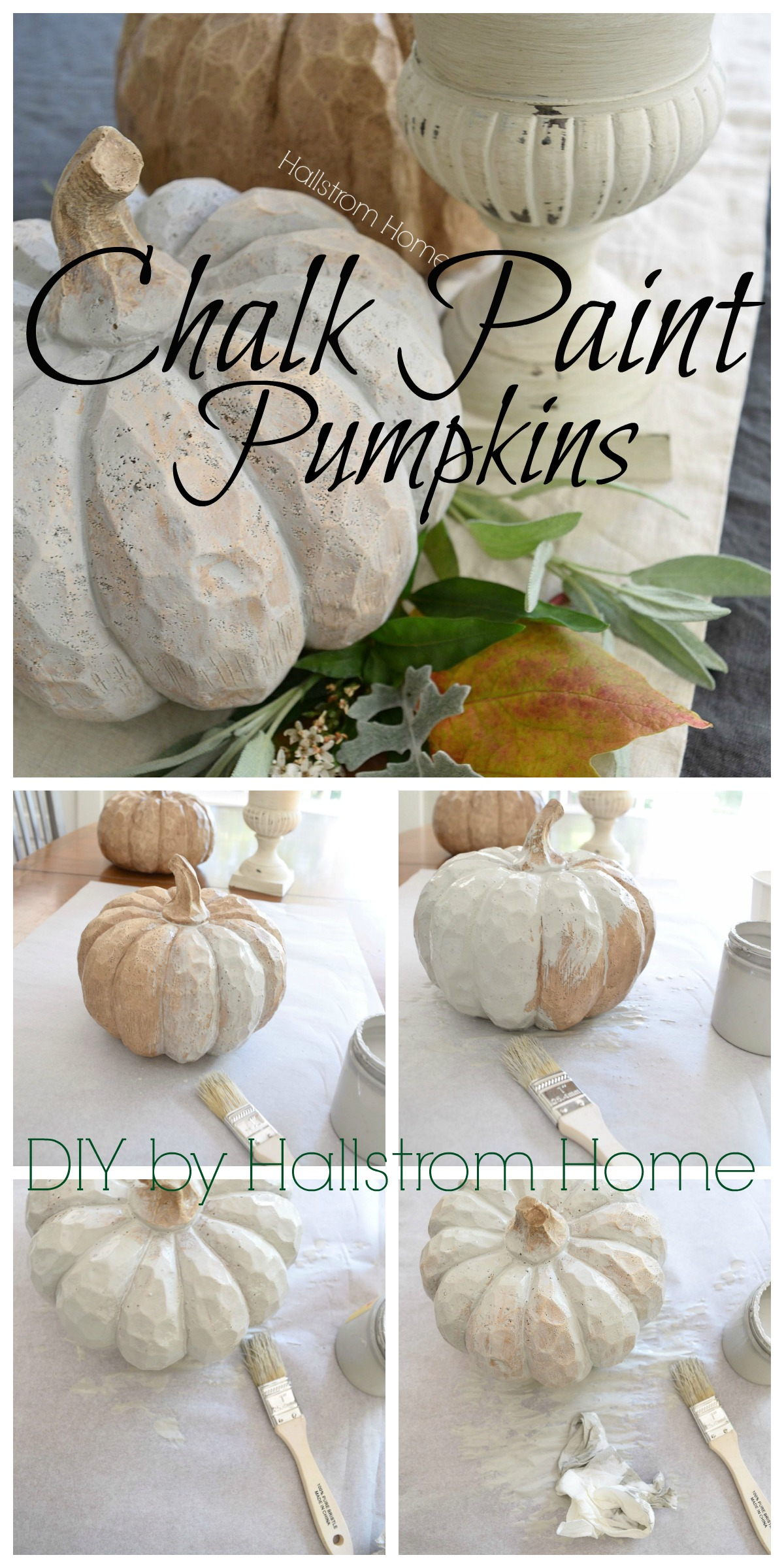 Chalk paint your own pumpiks just in time for Fall!
