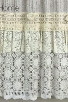 DIY shabby chic shower curtain tutorial-Hallstrom Home
