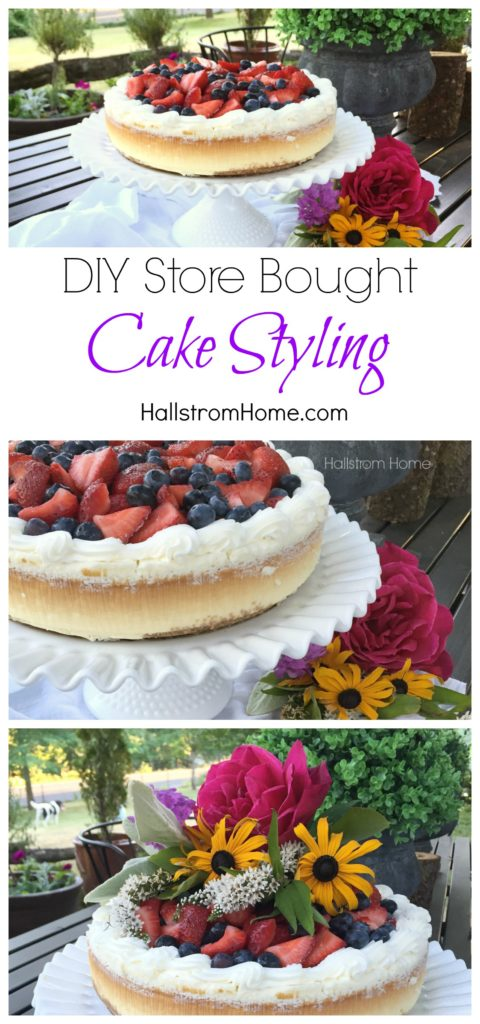 DIY store bought cake styling - Hallstrom Home