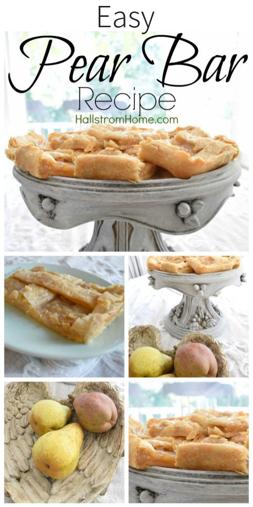 Simple Pear Bar Recipe for Farmhouse Living fresh pear recipes pear squares recipes pear recipes pear and cinnamon recipes winter cooking baking recipes best recipes recipes for fall baking for fall pear bars pear bar recipe easy recipes kids recipes cooking for kids hallstromhome.com 