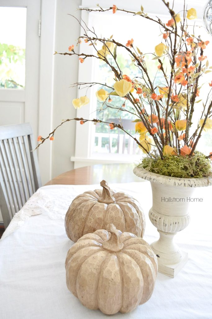 Fall decor chalk paint pumpkins Hallstrom Home