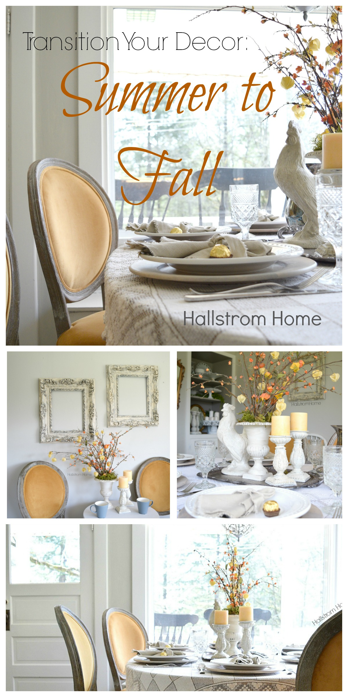 Transition Your Decor From Summer to Fall by Hallstrom Home