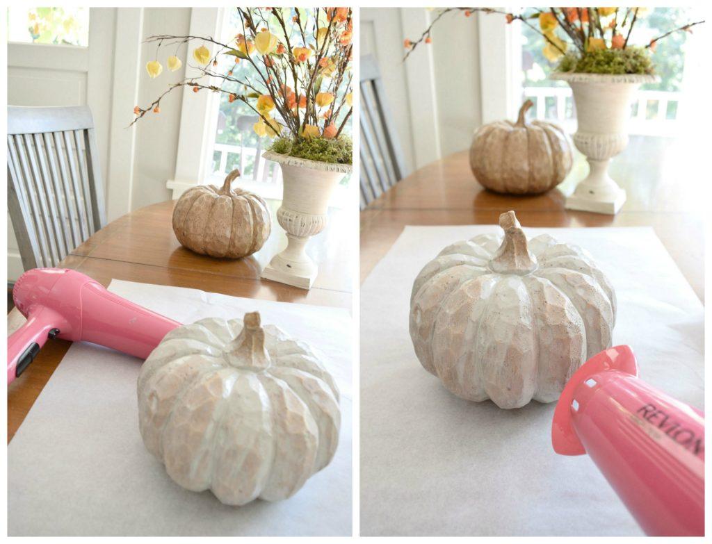 chalk paint pumpkins tutorial Hallstrom Home