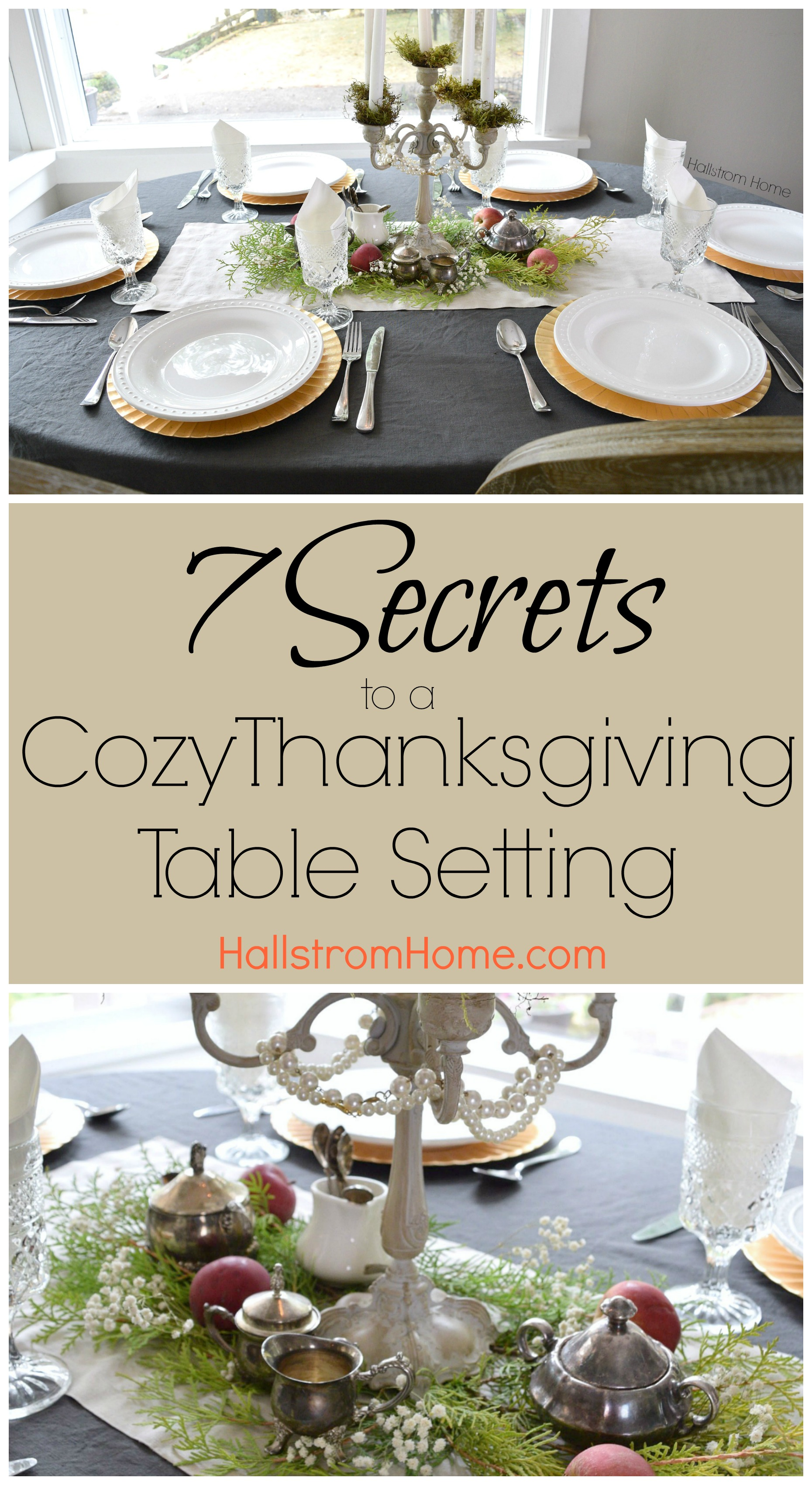 Set a cozy Thanksgiving table this year for your friends and family!