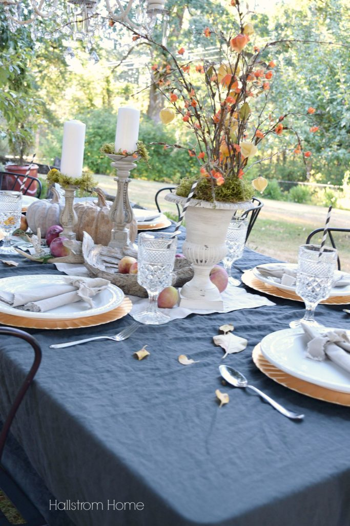How to Create an Outdoor Fall Tablescape by Hallstrom Home