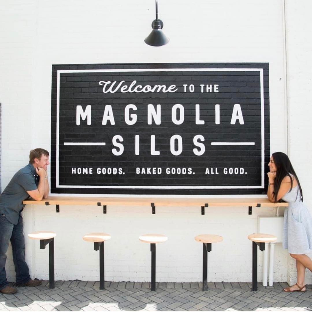 Chip and Joanna Gaines at the Silos