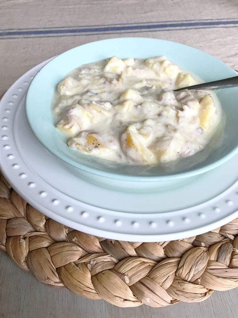 Creamy Potato Soup with Bacon