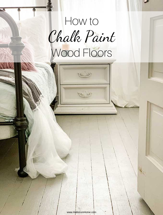 How I Chalk Painted Wood Floors|chalk paint|chalk paint floors|chalk paint wood floors| how to chalk paint floors| floor chalk paint| chalk paint concrete floors|painting wood floors| chalk paint diy|chalk paint tutorial|chalk paint linoleum floors|HallstromHome.com