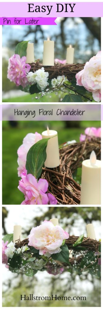 creating a hanging wedding chandelier wreath