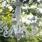 DIY Solar Light Hanging Chandelier
