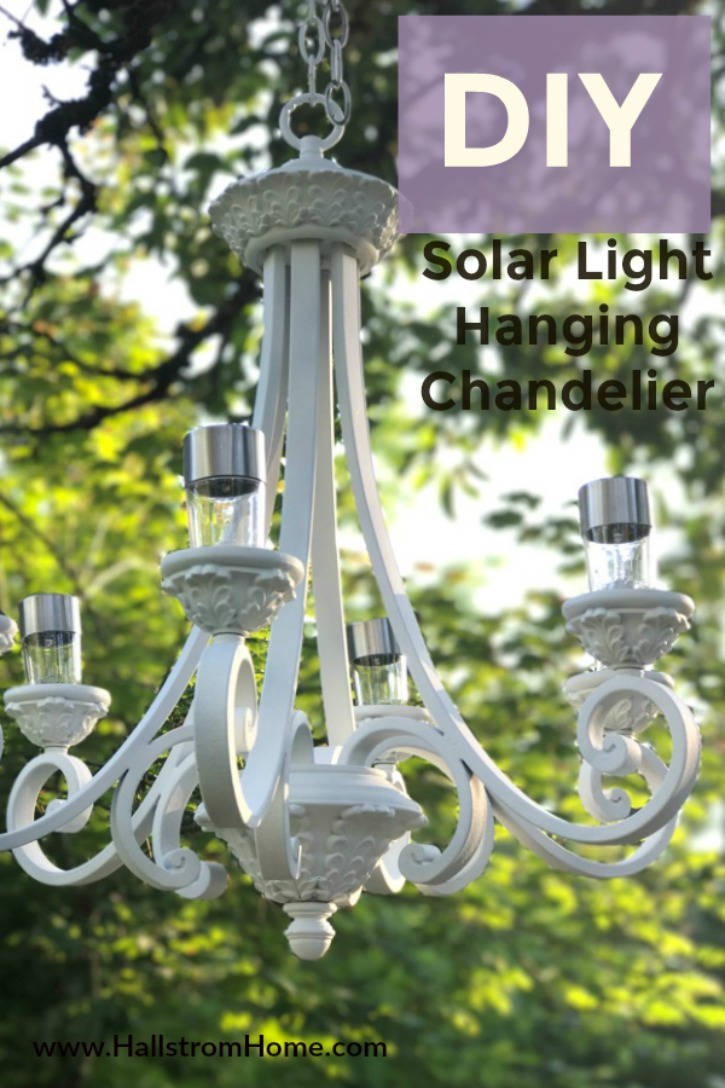 DIY Solar Light Hanging Chandelier