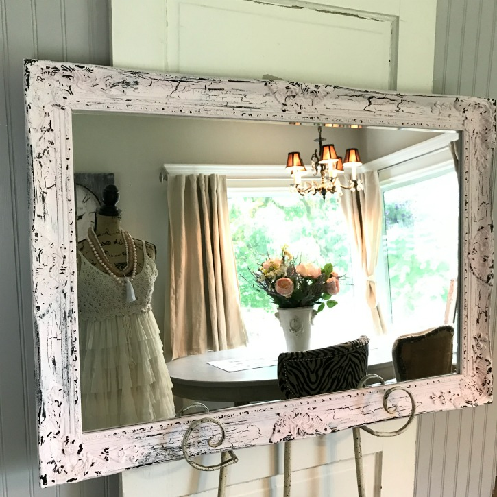 chippy paint mirror shabby chic style