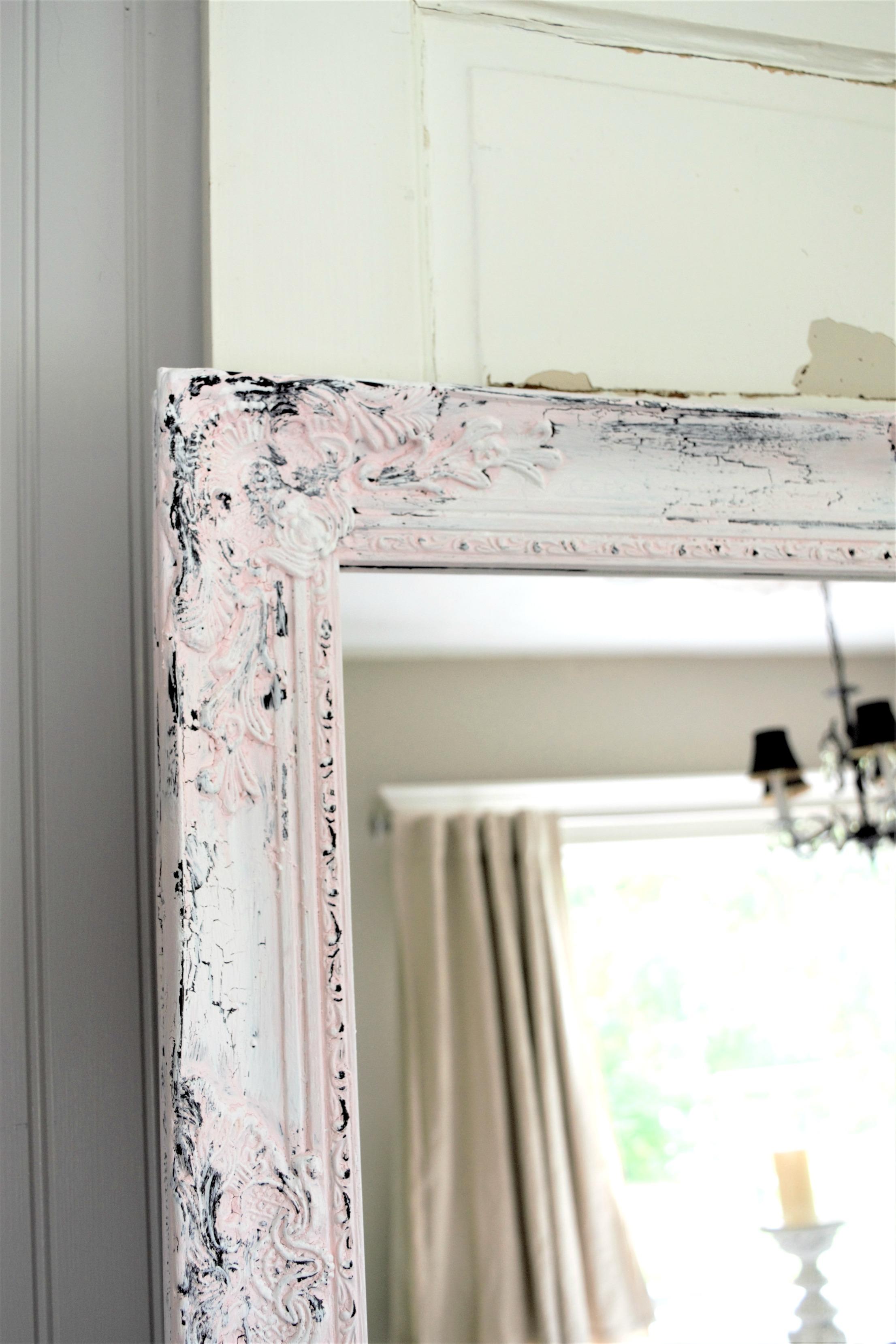 Easy Chippy Paint Mirror DIY
