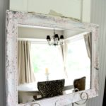 Easy Chippy Painted Mirror DIY