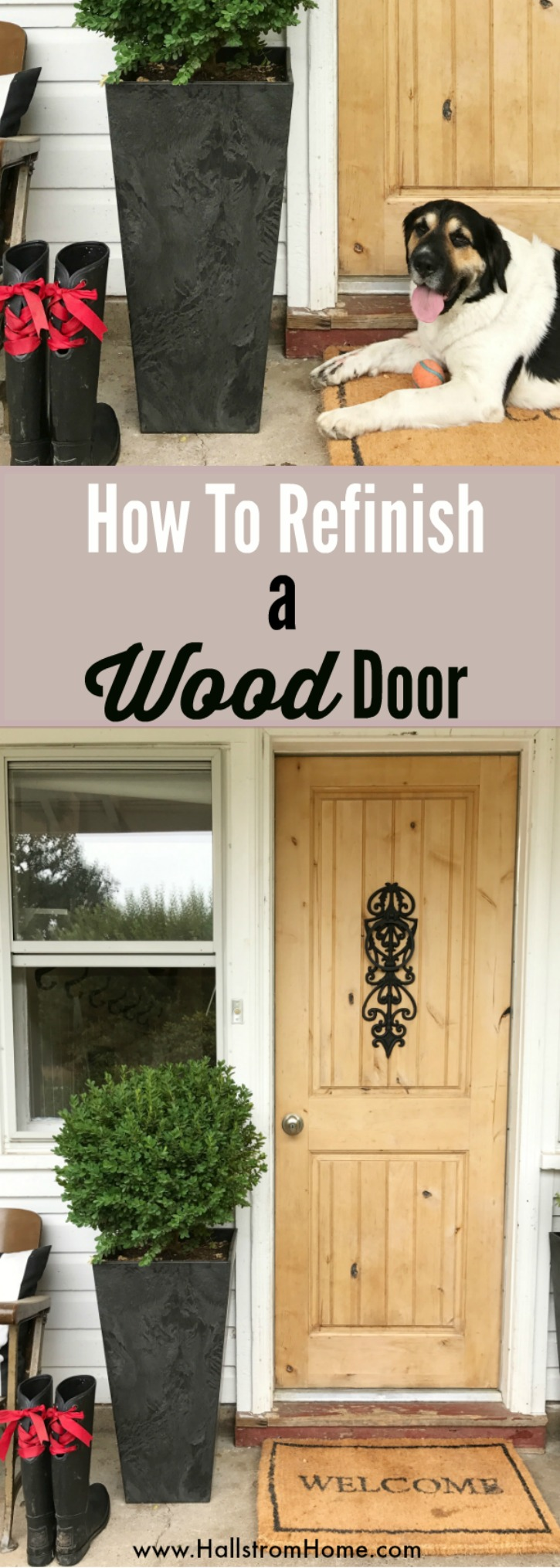 How to Refinish a Wood Exterior Door