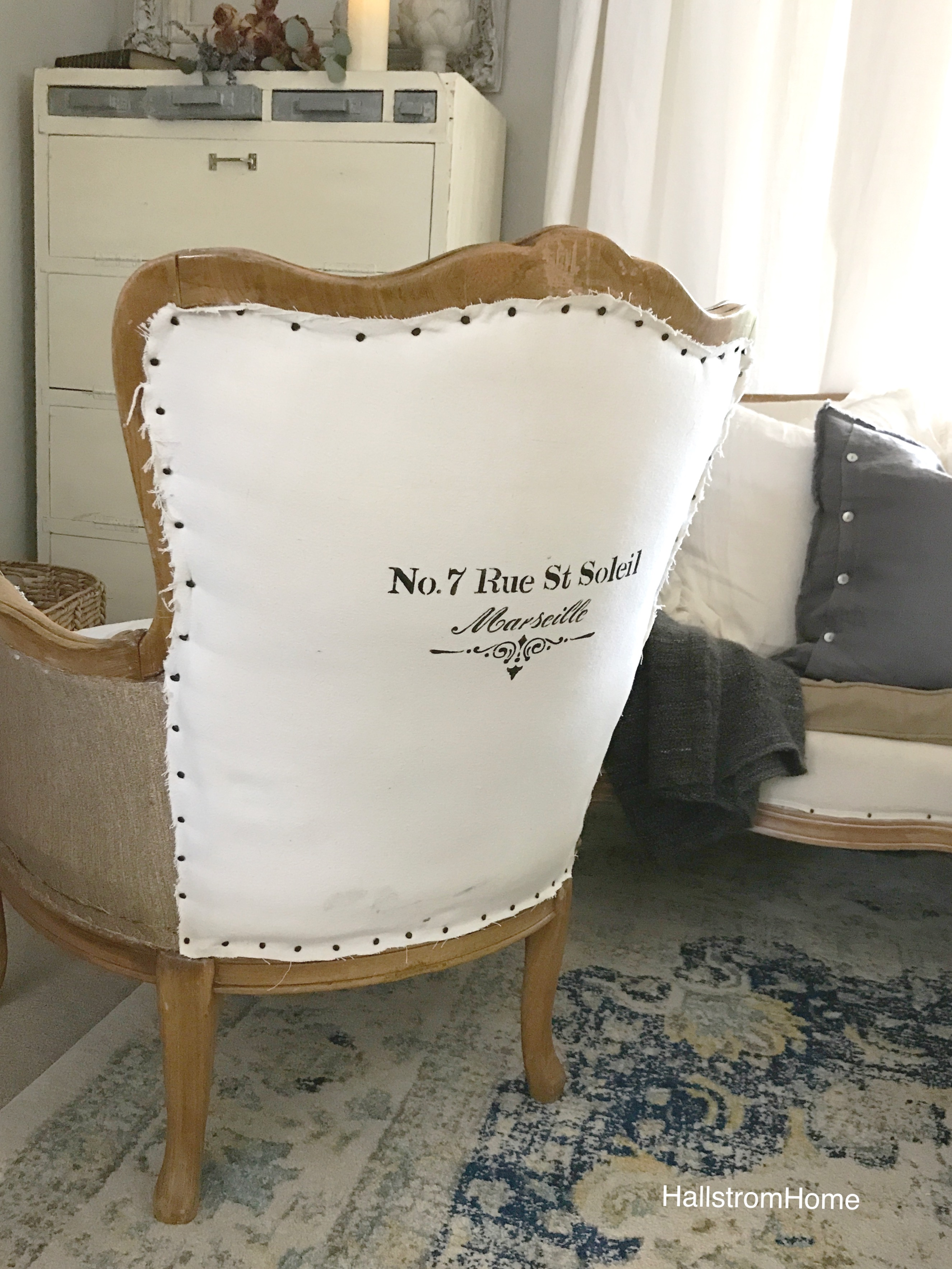 French Shabby Chic Reconstructed Chair