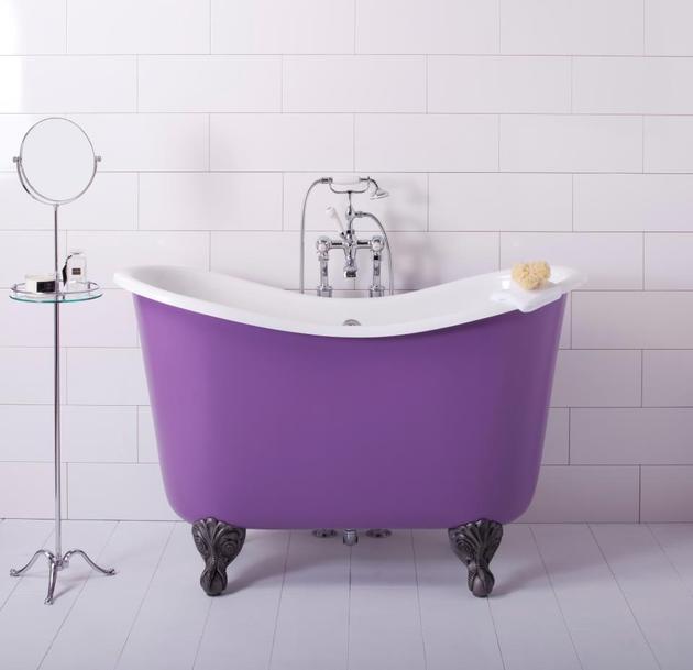 Purple Claw Foot Bathtub
