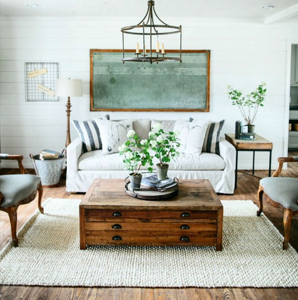Fixer Upper Living Room Chandelier