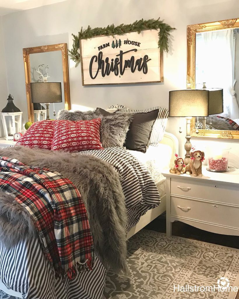 20 Christmas Bedrooms to Inspire